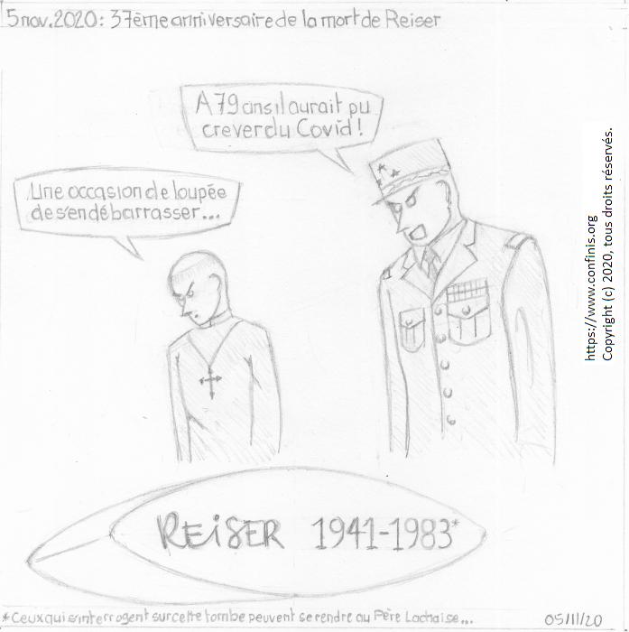 5 novembre 2020 : 37ème anniversaire de la mort de Reiser